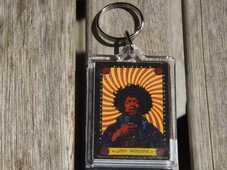 Idee regalo Portachiavi Jimi Hendrix. Pyschedelic in Metallo Pyramid