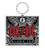 Idee regalo Portachiavi AC/DC. Black Ice in Metallo Pyramid