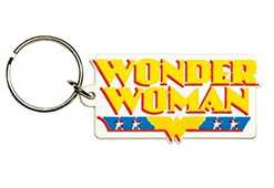 Idee regalo Portachiavi DC Comics. Wonder Woman Logo in Gomma Pyramid