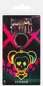 Portachiavi in gomma Suicide Squad. Harley Quinn Skull