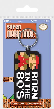 Portachiavi Super Mario Bros.. Born In The 80's