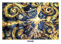 Idee regalo Poster Doctor Who. Exploding Tardis Pyramid