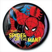 Idee regalo Pin Badge Marvel Retro. Spider Or Man Pyramid