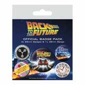 Idee regalo Badge Pack Back To The Future. Delorean Distintivi Pyramid