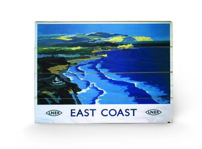 Stampa su legno 59 x 40 cm East Coast