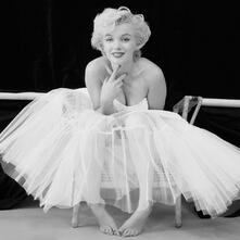 Stampa Su Tela Marilyn Monroe Ballerina 40X40