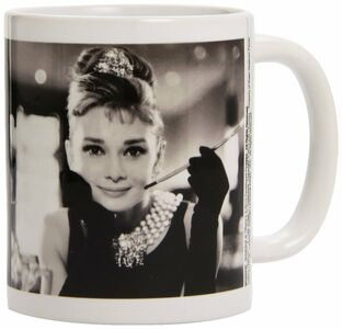 Idee regalo Tazza Audrey Hepburn. Black & White Pyramid