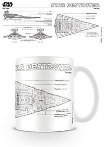 Tazza Star Wars. Star Destroyer Sketch
