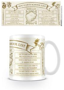 Tazza Harry Potter. Hogwarts School List Books