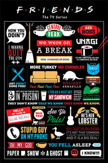 Poster Friends. Infographic