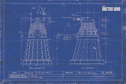 Idee regalo Poster Doctor Who. Dalek Blueprint Pyramid