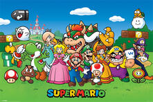 Poster Super Mario. Characters