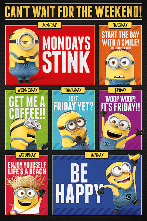 Poster Maxi Despicable Me 3 Cant Wait For The Weekend Pyramid