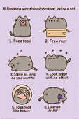 Idee regalo Poster Maxi 61X91,5 Cm Pusheen. Reasons To Be A Cat Pyramid