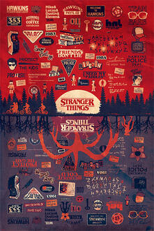 Maxi Poster Stranger Things. The Upside Down