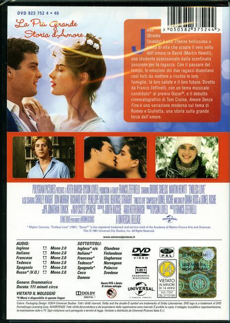 Amore senza fine di Franco Zeffirelli - DVD - 2