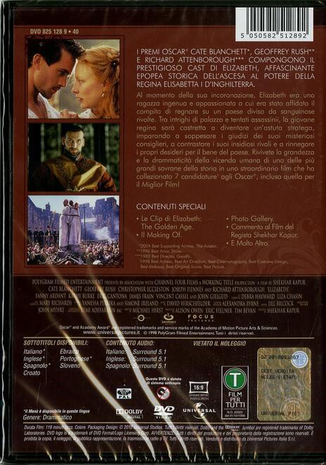 Elizabeth<span>.</span> Special Edition di Shekar Kapur - DVD - 2