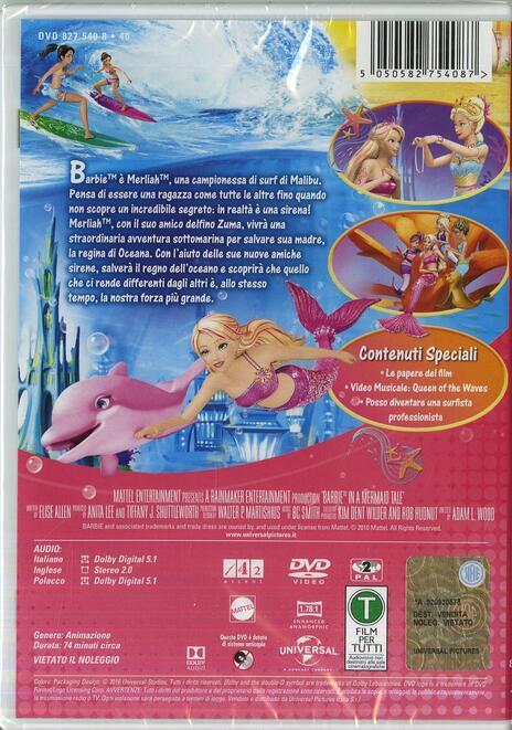 Barbie e l'avventura nell'oceano di Adam L. Wood - DVD - 2