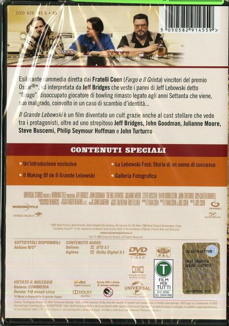 Il grande Lebowski di Joel Coen - DVD - 2