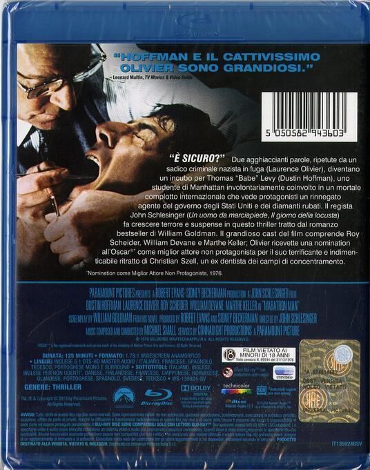 Il maratoneta di John Schlesinger - Blu-ray - 2