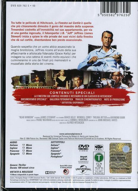 La finestra sul cortile di Alfred Hitchcock - DVD - 2