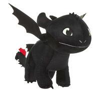 Dragon Trainer 3. Peluche Sdentato Lungo 60 Cm Con Effetto Glow In The Dark Su Ali E Occhi