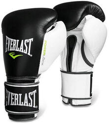 Everlast Powerlock guanto da boxe Bag gloves Adulto Nero, Bianco 12 oz