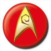 Idee regalo Pin Badge Star Trek. Insignia. Red Pyramid