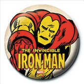 Idee regalo Pin Badge Iron Man. Invincible Pyramid