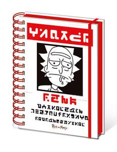 Quaderno A5 Rick And Morty Wanted