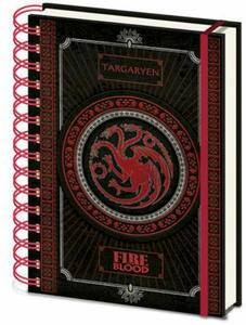 Quaderno Game Of Thrones Targaryen A5 Wiro Notebook Cdu 10