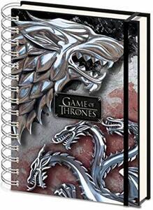 Quaderno Game Of Thrones Stark & Targaryen A5 Wiro Notebo Cdu 10