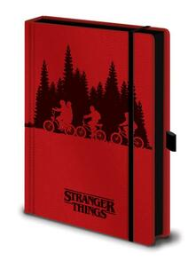 Upside Down Stranger Things A5 Premium Notebook