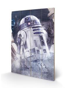 Stampa Su Legno 59X40Cm Star Wars The Last Jedi. R2-D2 Droid