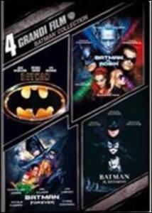 4 grandi film. Batman Collection (4 DVD) di Tim Burton,Joel Schumacher