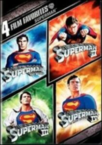 4 grandi film. Superman (4 DVD) di Richard Donner,Sidney J. Furie,Richard Lester