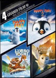 4 grandi film. Per tutta la famiglia (4 DVD) di Eric Brevig,George Miller,Zack Snyder