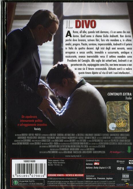 Il divo di Paolo Sorrentino - DVD - 2