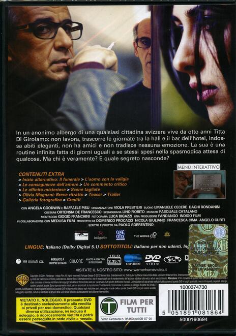 Le conseguenze dell'amore di Paolo Sorrentino - DVD - 2