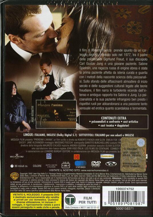 Prendimi l'anima di Roberto Faenza - DVD - 2