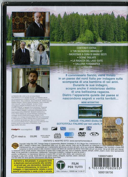 La ragazza del lago di Andrea Molaioli - DVD - 2