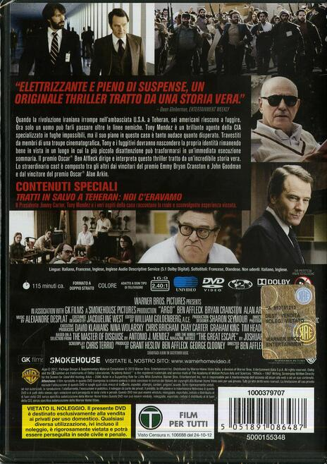 Argo di Ben Affleck - DVD - 2