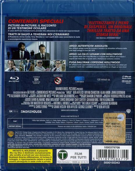 Argo di Ben Affleck - Blu-ray - 2