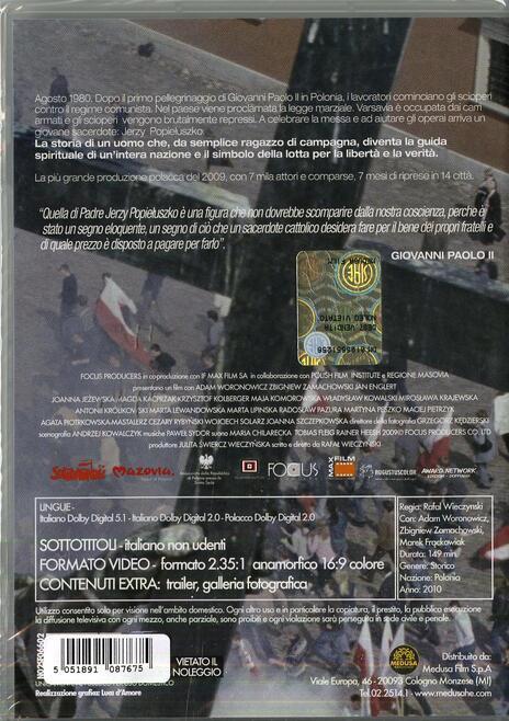 Popieluszko. Non si può uccidere la speranza di Rafal Wieczynski - DVD - 2