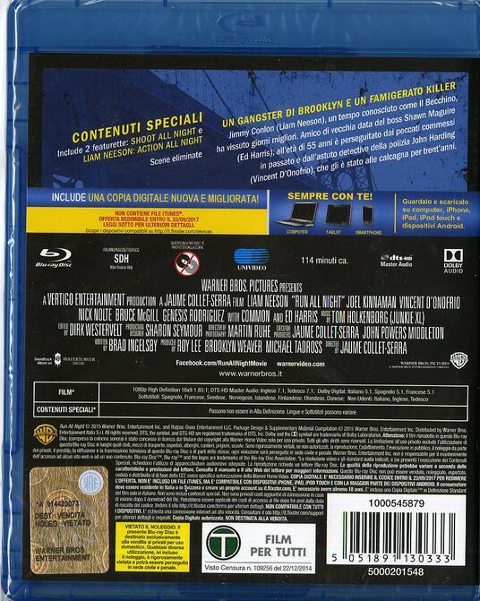 Run All Night. Una notte per sopravvivere di Jaume Collet-Serra - Blu-ray - 2
