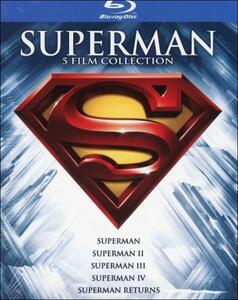 Superman. 5 film collection (5 Blu-ray) di Richard Donner,Sidney J. Furie,Richard Lester,Bryan Singer