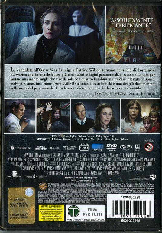 The Conjuring. Il caso Enfield di James Wan - DVD - 2