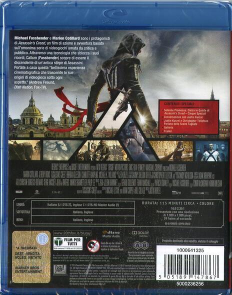 Assassin's Creed (Blu-ray) di Justin Kurzel - Blu-ray - 10