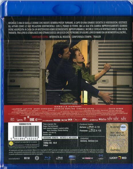 Elle (Blu-ray) di Paul Verhoeven - Blu-ray - 2