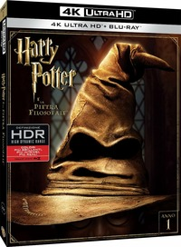 Cover Dvd Harry Potter e la pietra filosofale (Blu-ray Ultra HD 4K)
